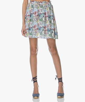 Marie Sixtine Devia Viscose Print Skirt - Jungle