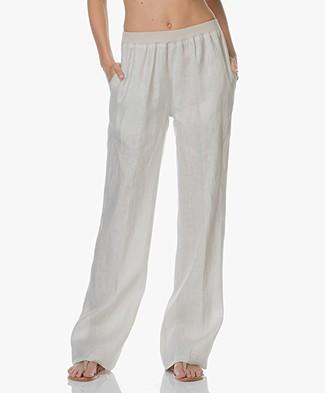 LaSalle Linen Wide Leg Pants - Sand