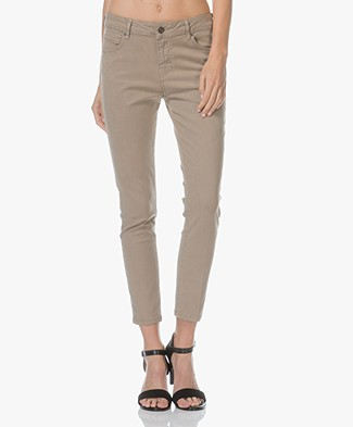 Vanessa Bruno Heddy Cropped Skinny Jeans - Elephant