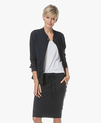 Woman by Earn Sylvia Travel Jersey Jacket - Navy
