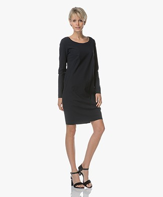 Woman by Earn Cheryl Travel Jersey Jurk - Navy
