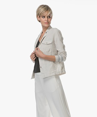 Josephine & Co Laurette Linen Jacket - Silver Grey