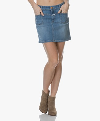 Closed Violet Denim Mini Skirt - Mid Heaven Blue