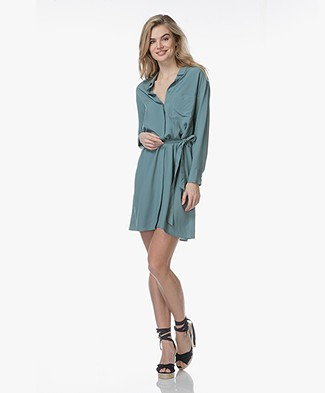 Marie Sixtine Elya Viscose Shirt Dress - Thyme