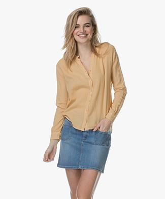 bce17c2710139 Project AJ117 Milou Cotton Blend Blouse - Yellow