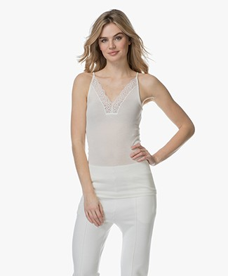Vanessa Bruno Bretelle Camisole with Lace - Off-white