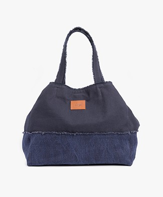 Castañer Uchuva Canvas Shopper - Azul Marino