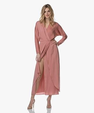 Filippa K Drapey Wrap Dress - Salmon 784f71f06436