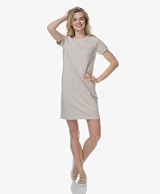 no man's land Garment-Dyed Sweater Dress - Sandstone