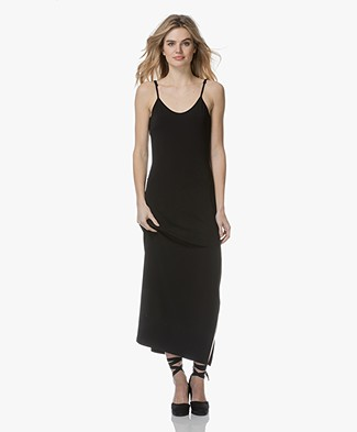 no man's land Maxi Dress in Crepe Jersey - Black