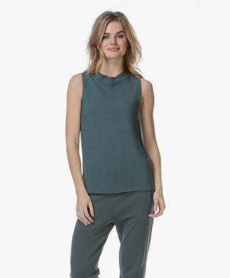 no man's land Structure Knit Top - Eucalyptus