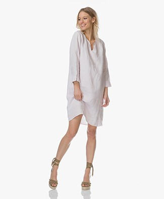 Belluna Caren Linen Dress - Soft Pink