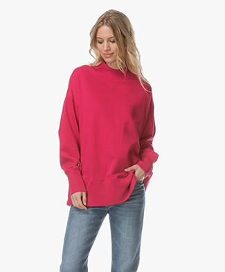 Denham Troop French Terry Sweater - Dark Pink