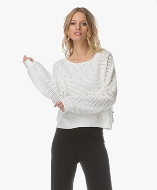 Leï 1984 Colombine Ajour Knitted Pullover - Off-white