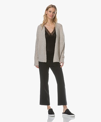 no man's land Mohairmi Cardigan with Dolman Sleeves - Feather
