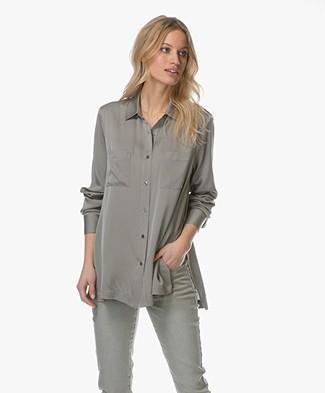 Repeat Silk Shirt - Light Khaki