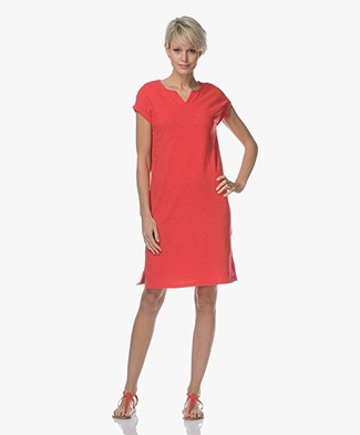 BY-BAR Hanna Flame Jersey Dress - Red