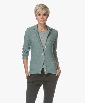 Belluna Fay Viscose Blend Blazer Cardigan - Green