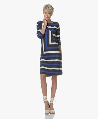 Denham Stealth Graphic Dress - Navy Stripe