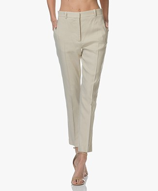 Joseph Zoom Linen Blend Stretch Pants - Hessian