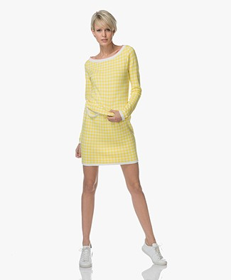 Josephine & Co Lianne Knitted Dress - Check Yellow