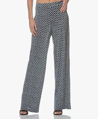 LaSalle Jersey Pants with Print - Sea