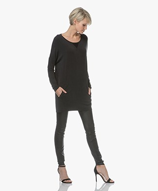 Project AJ117 Dinah Tunic in Cupro Blend - Black