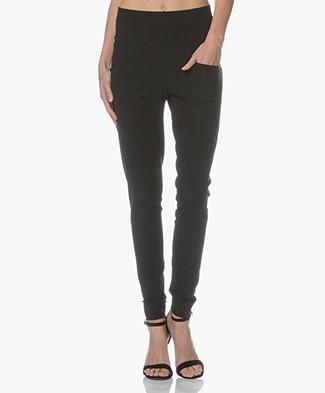 Woman by Earn Erin Travel Jersey Pants - Black