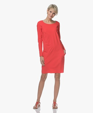 Woman by Earn Cheryl Travel Jersey Dress - Electric Red