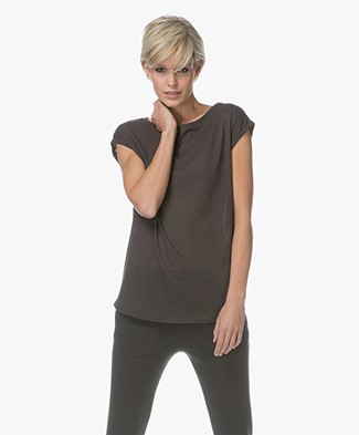 BY-BAR Bobby Weave T-shirt - Off Black