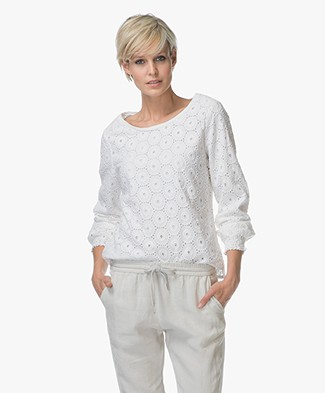 Josephine & Co Laurie Broderie Anglaise Blouse - Wit