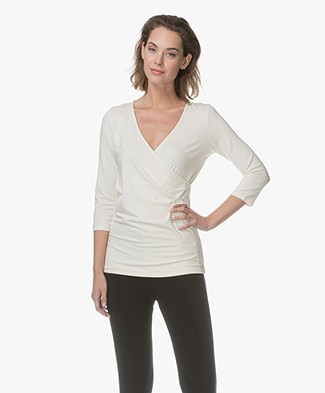 Kyra & Ko Inez Wrap T-shirt - Cream