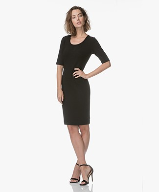 Kyra & Ko Katrien Crêpe-Jersey Dress - Black