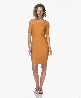 Kyra & Ko Lieke Ottoman Ribbed Dress - Mango