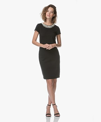 Kyra & Ko Nanet Dress with Pearls - Black