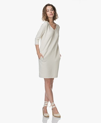 Kyra & Ko Sonia Crepe Jersey Dress - Cream