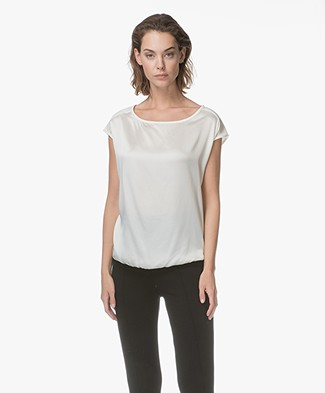 Kyra & Ko Tessa Silk T-shirt - Cream