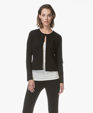 Kyra & Ko Belle Short Crêpe-Jersey Jacket - Black