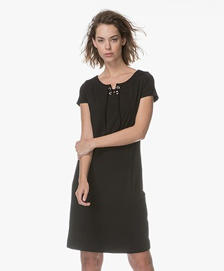 Kyra & Ko Chantal Dress with Lacing - Black