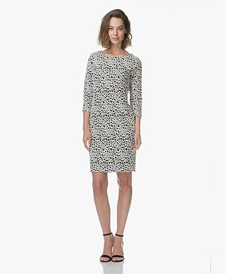Kyra & Ko Rani Jacquard Animal Print Dress - Black
