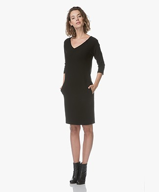 Kyra & Ko Sonia Crepe Jersey Dress - Black