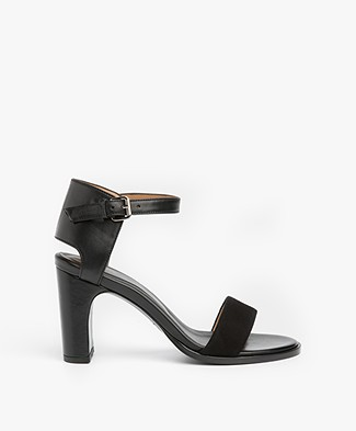 Filippa K Lacey High Sandals - Black Suede
