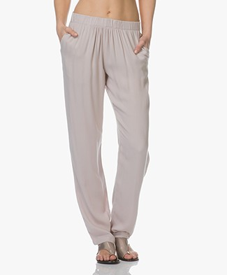 BRAEZ Penthouse Viscose Crepe Pants - Earth
