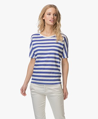 Closed Striped Linen T-shirt - Summer Evening