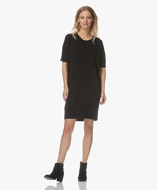 Denham Unite Jersey T-shirt Dress - Black