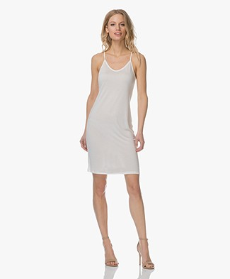 Marie Sixtine Claire Jersey Slip Dress - Egg