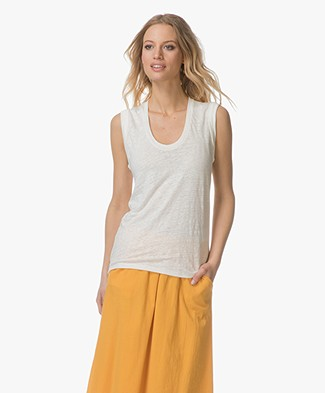 Closed Linen Tanktop - Ivory