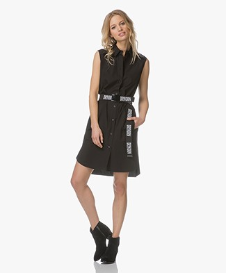 Drykorn Doria Sleeveless Shirt Dress - Black