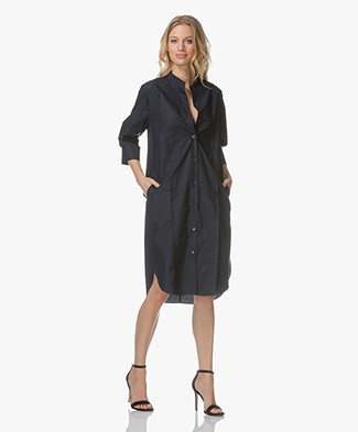 Filippa K Cotton Shirt Dress - Navy