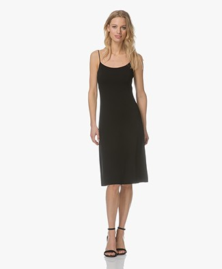 Filippa K Jersey Crepe Strap Dress - Black